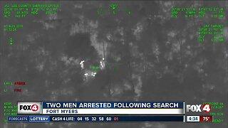 Suspects arrested in woods after fleeing deputies in Lee County