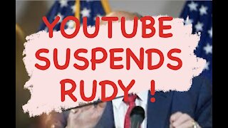 YouTube SUSPENDS Rudy Giuliani!