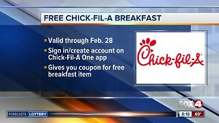 Chick-fil-A is offering free breakfast for app users