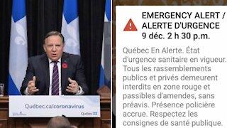 L'alerte d'urgence envoyée aux Québécois a fait planter le site du gouvernement