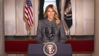 First Lady Melania Trump Delivers Message To U.S.A.