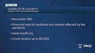 CARES Act eviction diversion program in Charlotte County