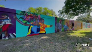 New murals painted behind McCollum Hall celebrate Black history in Fort Myers