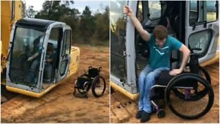 Nothing stops this young paraplegic from doing what he wants!