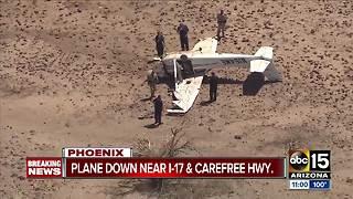 Plane crashes near I-17 and Carefree Highway