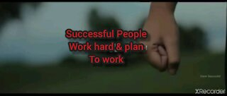HARD WORK & PLAN TO WORK HARD