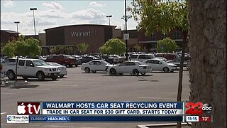 Walmart hosts car seat recycling event