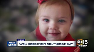 Family share update about baby pulled from Mesa pool