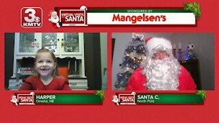 Virtual Santa visit with Harper
