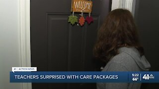 Teachers surprised with care packages