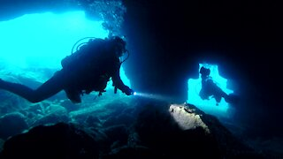 Mysterious caves await adventurous scuba divers in Tobermory, Canada