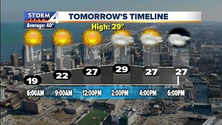 Chilly with a chance for snow showers Wednesday