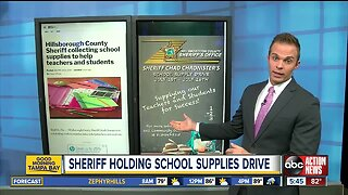 Hillsborough County Sheriff collecting school supplies to help teachers and students