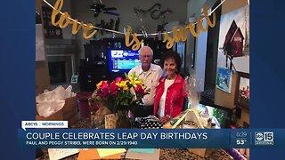Couple celebrates Leap Year birthdays together