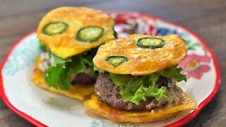 Keto Jalapeno Popper Stuffed Burgers