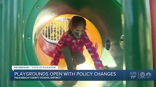 Palm Beach County school playgrounds reopen with policy changes