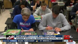 Governor Newsom announces schools will remain closed for the school year