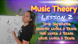 Time Signature 4/4, Quarter, Half, & Whole Notes & Rests   Music Theory