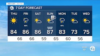 Storm chance Friday