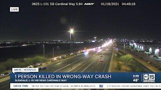 Deadly wrong-way crash on Loop 101 in Glendale