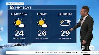 Metro Detroit Forecast: Arctic air moves over Michigan