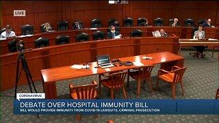 Debate over hospital immunity bill
