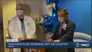 Frontline workers get vaccinated