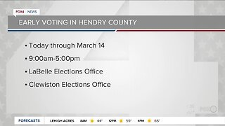 Early voting starts in parts of Southwest Florida
