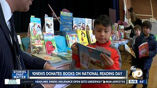 10News donates books on National Reading Day
