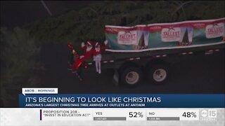 Arizona's tallest fresh Christmas tree arrives in Anthem