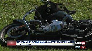 Motorcyclist dies in crash in Cape Coral