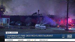 Overnight fire destroys Mesa restaurant