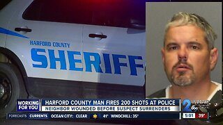 Man arrested after shooting nearly 200 rounds at Harford County deputies