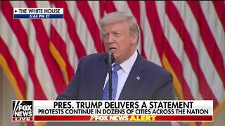 President Trump addresses the nation as active troops, military vehicles guard the White House