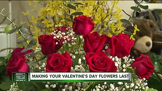 Making your Valentine's Day flowers last