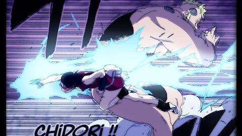 Boruto Episode 207.. Vanishing Rasengan and Chidori combination