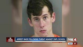Man arrested after allegedly threatening to shoot up ex-girlfriend's school
