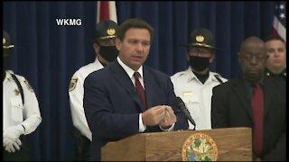 Florida Gov. Ron DeSantis makes immigration announcement in Titusville