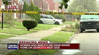 Woman and man found dead inside home on Detroit's west side