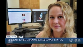 Rebekah Jones, former Florida health department employee, gets whistleblower status