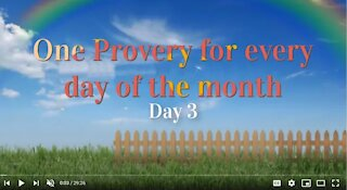 Proverbs Chapter 03