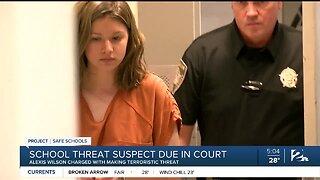 School threat suspect due in court