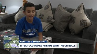 11-year-old makes friends with the UB Bulls