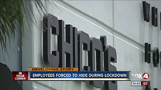 Employees forced to hide during lockdown