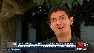 Mobile COVID-19 testing in Delano