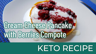 Cream Cheese Pancake With Berries Compote   Keto Diet Recipes