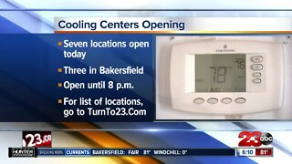 Cooling centers open Friday in Kern County
