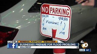 Businesses prepare for flood problems