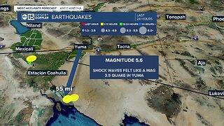 Earthquake in Baja California felt in Arizona