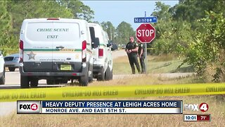 Deputies investigate area near a home in Lehigh Acres